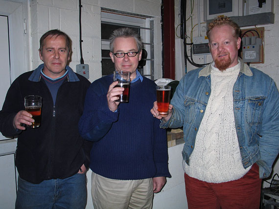 Alan (Drayman), Stephen Brown (Director) and Eddie Baines (Head Brewer)