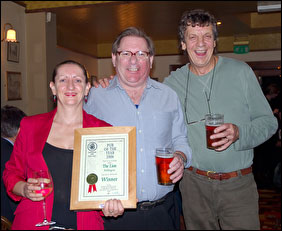 Myf and Don receive award from Brian Kirton (Branch Chairman)