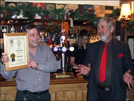 PotY presentation to Paul at the Roebuck